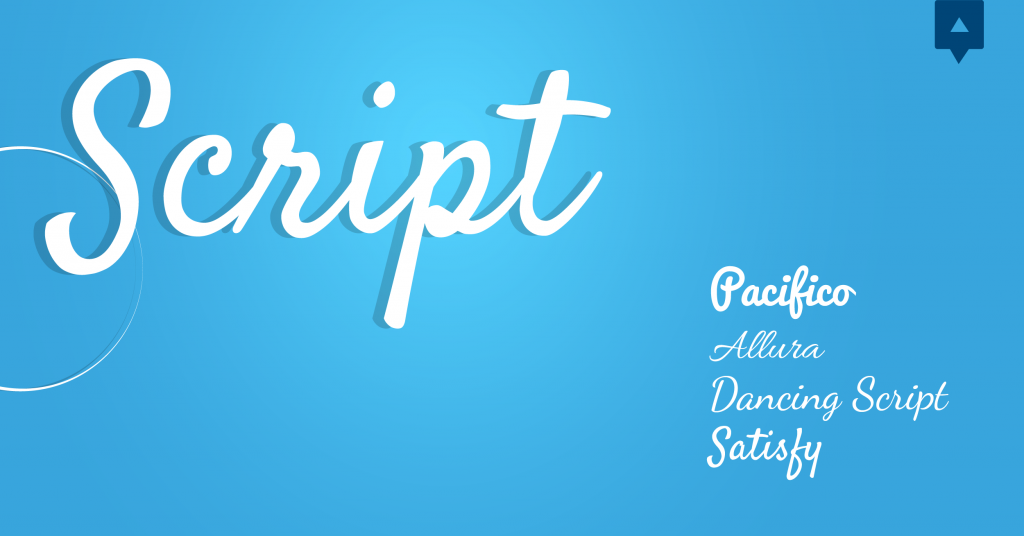 Font chữ thiết kế Script