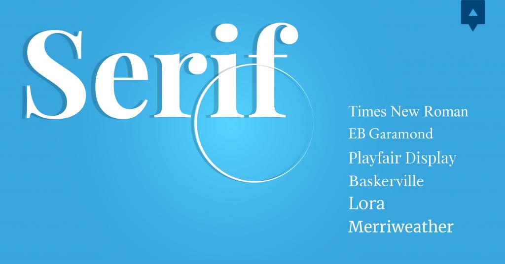 Font chữ thiết kế Serif