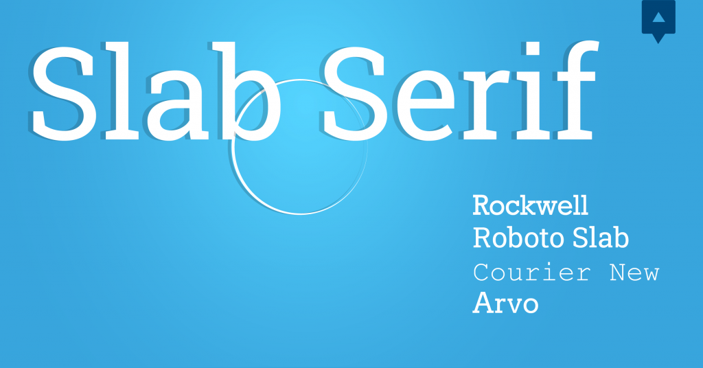 Font chữ thiết kế Slab Serif