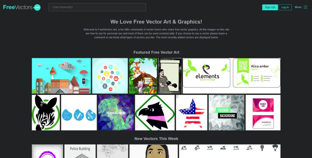 Trang web download vector miễn phí freevector