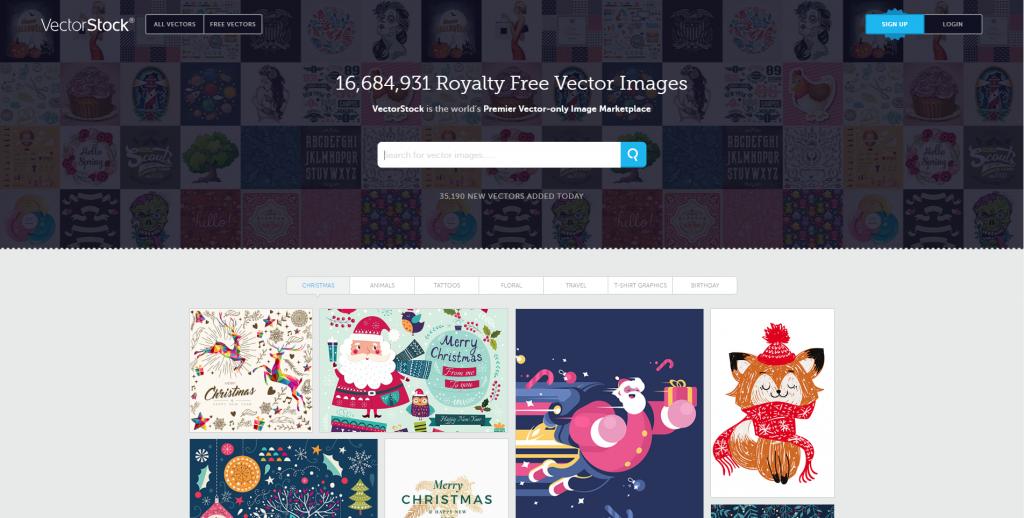 Trang web download vector miễn phí vectorstock