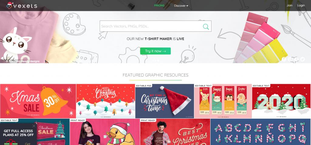 Trang web download vector miễn phí vexels