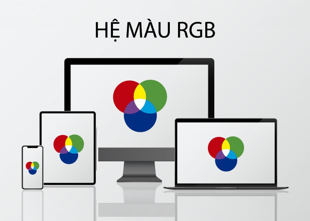 Ứng dụng của hệ màu RGB và CMYK