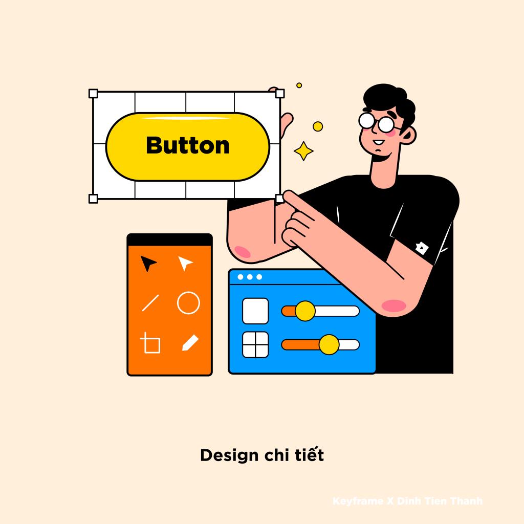 Bước 3: Design chi tiết (6 bước để tạo ra một bản thiết kế UI/UX hoàn chỉnh)