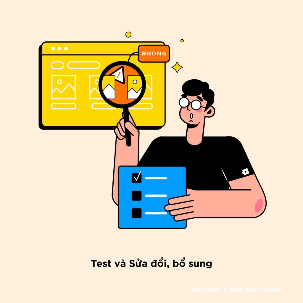 Bước 5: Testing (6 bước để tạo ra một bản thiết kế UI/UX hoàn chỉnh)