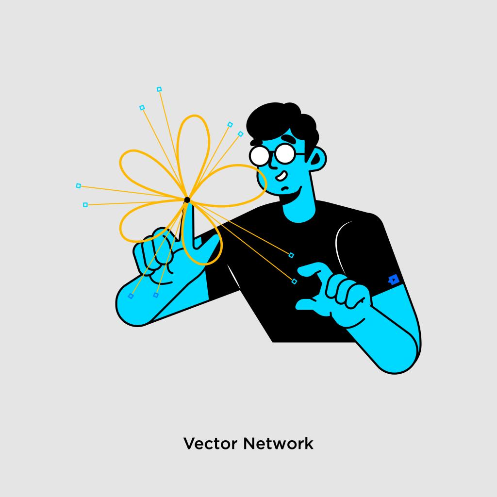Tính năng của Figma - Vector Network