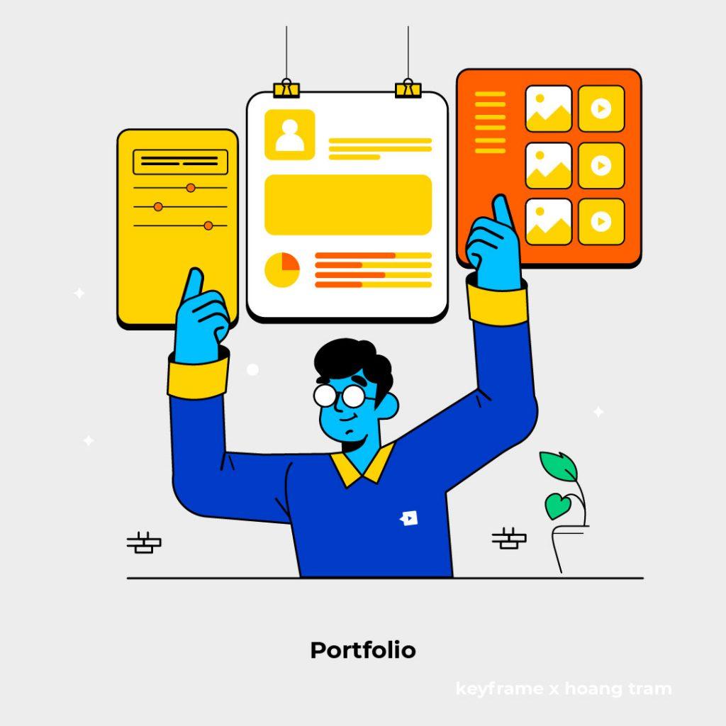 Thiết kế Porfolio cho thấy UX/UI Designer đó coi trọng công việc này